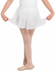 Bloch White Georgette Sequin Skirt