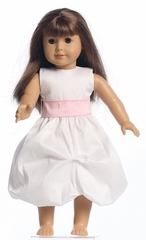 Blossom Gathered Shantung Organza Dress w/Sash for 18� Doll
