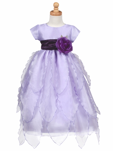 Blossom Lilac Organza Dress w/ Petals Skirt