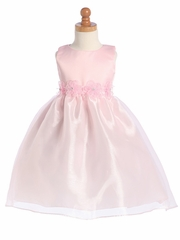 Blossom Pink Satin Bodice w/ Organza Skirt
