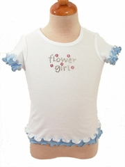 Blue Flower Girl T-shirt