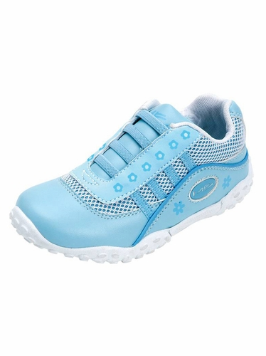 Blue Laceless Athletic w/ Mesh Upper Shoes