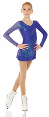 Mondor Blue Sparkly Skating Dress