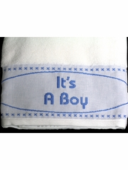 Blue Nursery Bath Towel