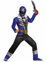 Blue Power Ranger Super Megaforce Classic Muscle Costume
