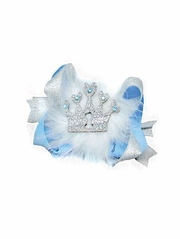 Blue Princess Birthday Bow