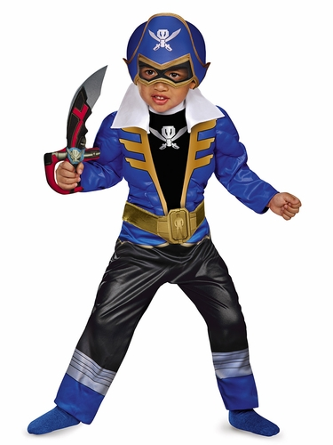 Blue Ranger Super Megaforce Toddler Muscle Costume