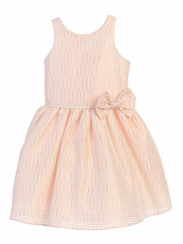 Blush Hot Air Balloon Striped Jacquard Dress
