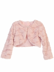 CLEARANCE - Blush Pink Cloud Fur Jacket