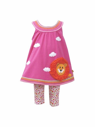 Bonnie Jean Infant Girl Fuchsia Lion Tunic Set