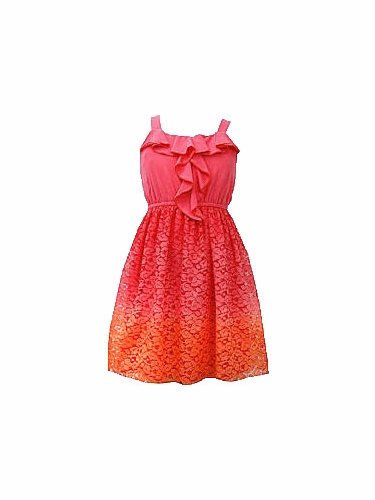 Bonnie Jean Ombré Lace Skirted Dress