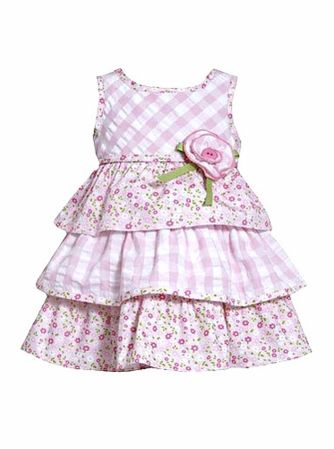 Bonnie Jean Seersucker Rosette Dress
