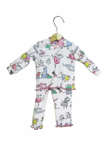 Books To Bed Angelina Ballerina 18'' Doll Matching Pajamas