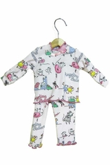 "Books To Bed Angelina Ballerina 18"" Doll Matching Pajamas"