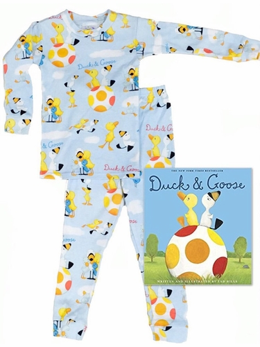 Books To Bed Blue Duck & Goose Pajama Set