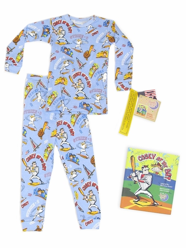 Books to Bed Casey At Bat w/ Matching Blue Pajama Set