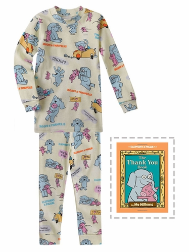 Books To Bed Elephant And Piggie Pajama Set