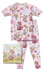 Books to Bed Fancy Nancy Elegant Easter w/ Matching Pink Short Sleeve Pajama