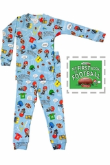 Books To Bed Football Pajama Set