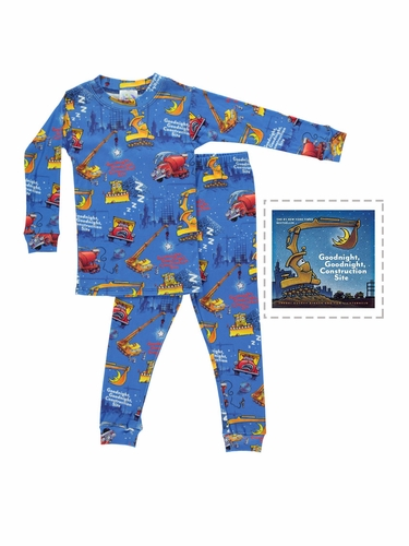 Books To Bed Goodnight Construction Site Pajama Set
