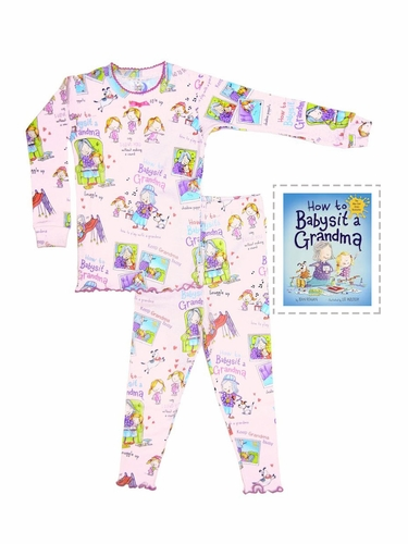 Books To Bed How To Babysit A Grandma Pajama Set