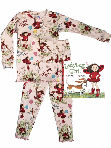 Books to Bed Ladybug Girl w/ Bag & Ribbon Set