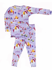 Books to Bed Lilac Uni the Unicorn w/ Matching Lilac Pajama Set
