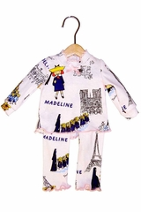 "Books To Bed Madeline 18"" Doll Matching Pajamas"