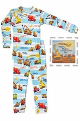 Books To Bed Mighty Mighty Construction Site Pajama Set
