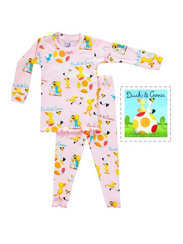 Books To Bed Pink Duck & Goose Pajama Set