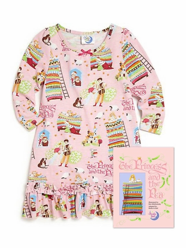 Books To Bed Pink Princess & The Pea Nightgown Set