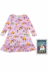 Books To Bed Pink Uni The Unicorn Nightgown Set