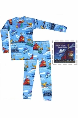 Books To Bed Steam Train Dream Train Pajama Set