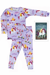 Books To Bed Uni The Unicorn Pajama Set