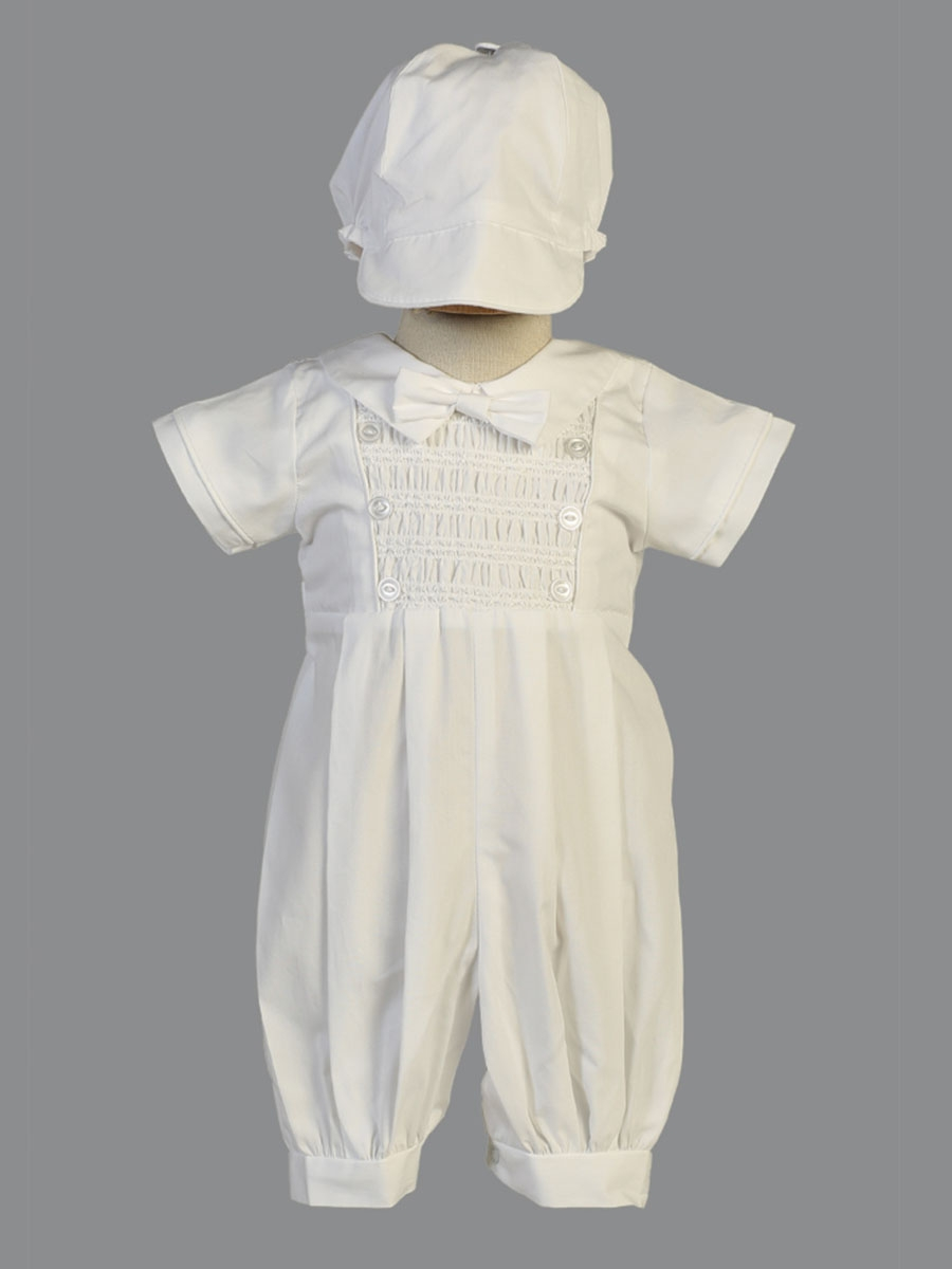 a25375968cae ... White Smocked Cotton Romper. Click to Enlarge