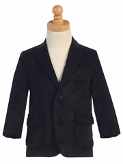 Boys Black Corduroy Jacket