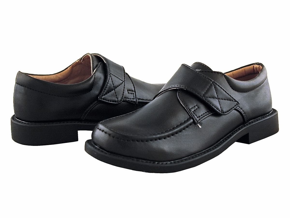 Black Dress Shoes with Velcro Strap