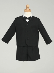 Boys Black Jacket & Shorts Set