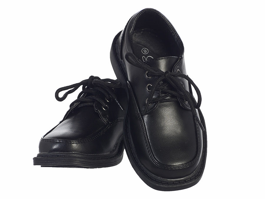 Black Lace Up Matte Dress Shoes