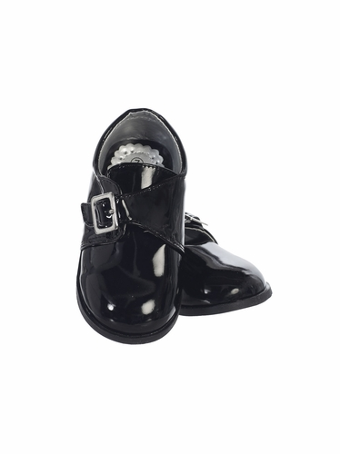 Boys Black Patent Shoes w/ Velcro