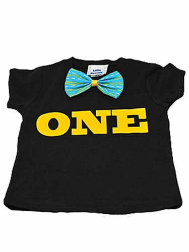 Boys Bow Tie Birthday Shirt
