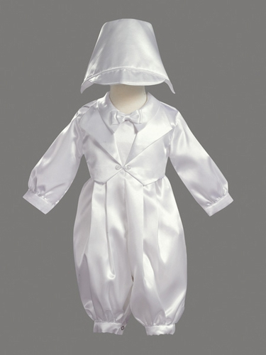 Boys Christening 2 Piece Satin Vest Set