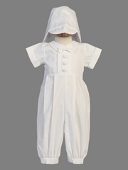 Boys Christening Cotton Romper