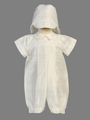 Boys Christening Silk Romper