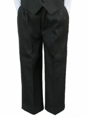 Boys Dark Gray Dress Pants