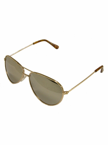 Boys Gold Metal Sunglasses