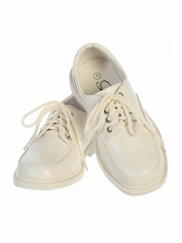 Boys Ivory Lace Up Matt Dress Shoes