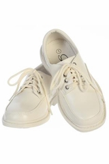 Boys Ivory Lace Up Matte Dress Shoes