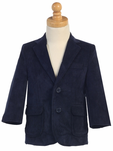 Boys Navy Corduroy Jacket
