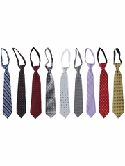 Boys Patterned Zipper Tie